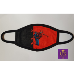 Kids Facemask With Animated Characters-Red And Black Spiderman-17cm