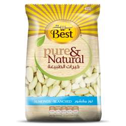 Best Pure & Natural Almonds Blanched Bag 325gm