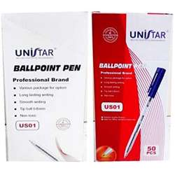 Unistar Ball Pen-Blue (1x50)