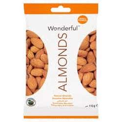 Wonderful Almonds Raw Natural 115gm