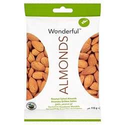 Wonderful Almonds Roasted & Salted 115gm