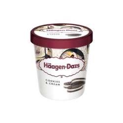 Haagen Daz Pint Cookies & Cream Ice cream 460ml