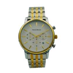 Trend Setter Men''s Two Tone Watch - Metal Band TD-142M-3