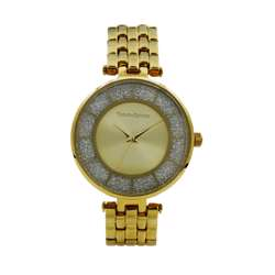 Trend Setter Women''s Gold Watch - Metal Band TD-144L-1