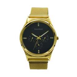 Trend Setter Men''s Gold Watch - Mesh Band TD2107M-2