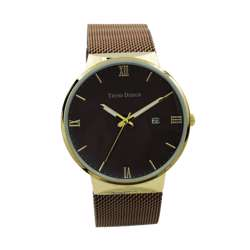 Trend Setter Men''s Coffee Watch - Mesh Band TD2112M-7