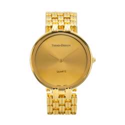 Trend Setter Men''s Gold Watch - Alloy Metal TD3101M-1 preview