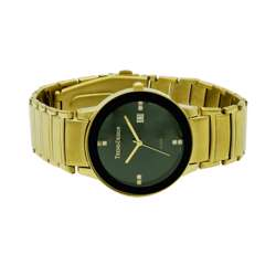 Trend Setter Men''s Gold Watch - Alloy Metal TD3102M-2 preview