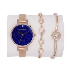 Trend Setter Women''s Rose Gold Watch Set - Mesh Band TD-9111-4 preview