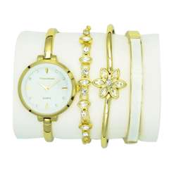 Trend Setter Women''s Gold Watch Set - Metal Band TD-9215-1 preview