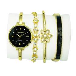 Trend Setter Women''s Gold Watch Set - Metal Band TD-9215-2 preview