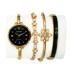 Trend Setter Women''s Rose Gold Watch Set - Metal Band TD-9215-4 preview