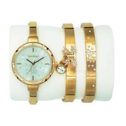 Trend Setter Women''s Rose Gold Watch Set - Metal Band TD-9216-3 preview