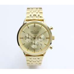 Multidimensional Men''s Gold Watch - Stainless Steel S12511M-1