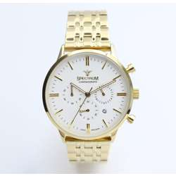 Multidimensional Men''s Gold Watch - Stainless Steel S12511M-2