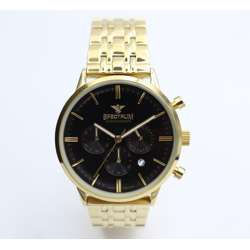 Multidimensional Men''s Gold Watch - Stainless Steel S12511M-3