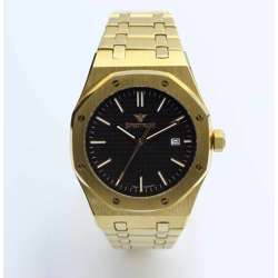 Challenger Men''s Gold Watch - Stainless Steel S12566M-2
