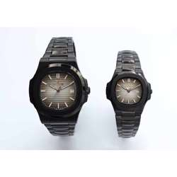 Challenger Pair''s Black Watch - Stainless Steel S12583L-7P