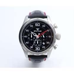 Explorer Men''s Black Watch - Leather S23032M-2
