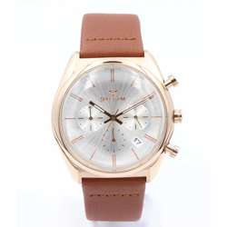 Multidimensional Men''s Brown Watch - Leather S23069M-1