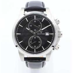Multidimensional Men''s Black Watch - Leather S23070M-4
