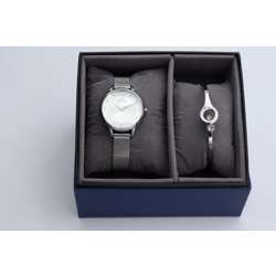 truth Seeker Women''s Silver Watch Set - Mesh Band S25176L-8B preview