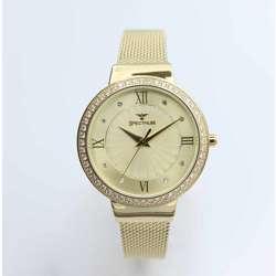 Creative Women''s Gold Watch Set - Mesh Band S25177L-1B preview