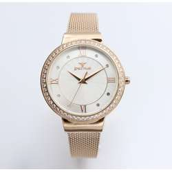 Creative Women''s Rose Gold Watch - Mesh Band S25177L-4
