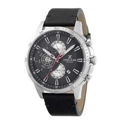 Leather Mens''s Black Watch - DK.1.12255-2 preview