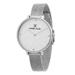 Mesh Band Womens''s Silver Watch - DK.1.12256-1