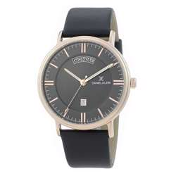 Leather Mens''s Black Watch - DK.1.12258-4 preview