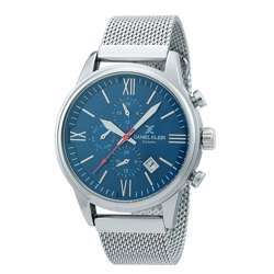 Mesh Band Mens''s Silver Watch - DK.1.12259-4