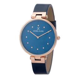 Leather Womens''s Blue Watch - DK.1.12260-3 preview