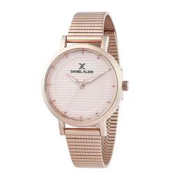 Stainless Steel Womens''s Rose Gold Watch - DK.1.12267-3 preview