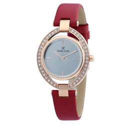 Leather Womens''s Red Watch - DK.1.12269-6 preview