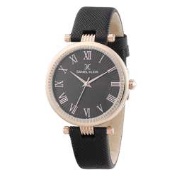 Leather Womens''s Black Watch - DK.1.12270-2 preview