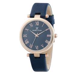 Leather Womens''s Blue Watch - DK.1.12270-3