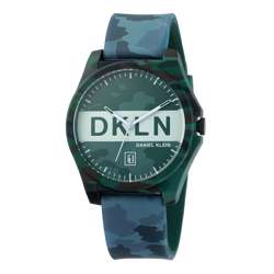 Silicone Mens''s Multicolour/ Grey Watch - DK.1.12278-8