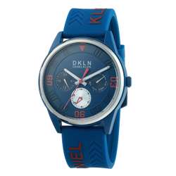 Silicone Mens''s White Watch - DK.1.12279-5