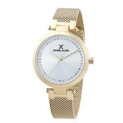 Mesh Band Womens''s Gold Watch - DK.1.12282-2