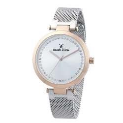 Mesh Band Womens''s Silver Watch - DK.1.12282-4