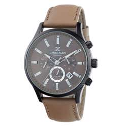 Leather Mens''s Creem Watch - DK.1.12284-5
