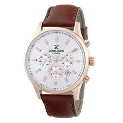 Leather Mens''s Brown Watch - DK.1.12284-6 preview