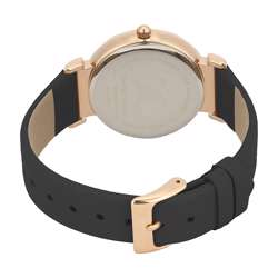 Leather Womens''s Black Watch - DK.1.12285-2 preview