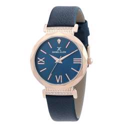 Leather Womens''s Blue Watch - DK.1.12285-4 preview