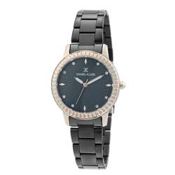 Stainless Steel Womens''s Black Watch - DK.1.12287-5