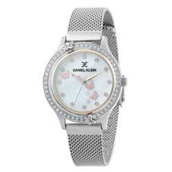 Mesh Band Womens''s Silver Watch - DK.1.12295-3