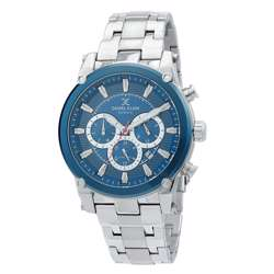 Stainless Steel Mens''s Silver Watch - DK.1.12297-3