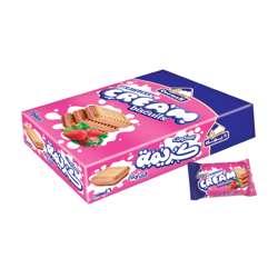 Deemah Strawberry Cream Biscuits 30gm Box 16Pcs