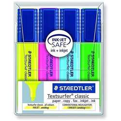 Staedtler Highlighetr Assorted Color-4 Pcs/Wlt